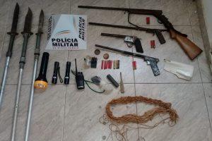 Caparaó: PM apreende quatro armas de fogo em zona rural