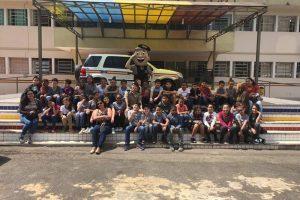 Alunos de Manhuaçu e Matipó visitam o 11º Batalhão