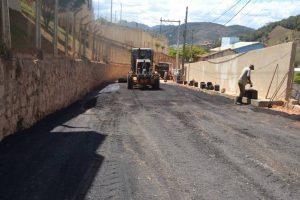 Manhuaçu: Avenida Dário Grossi é recapeada e tem trânsito liberado