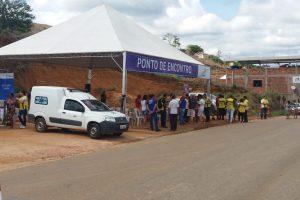 Realizada simulação de evacuação de moradores de Padre Fialho, Matipó