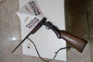 Matipó: PM apreende arma de fogo
