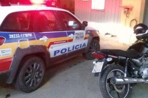 Manhuaçu: PM recupera motocicleta furtada
