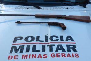 Armas são apreendidas em São João do Manhuaçu