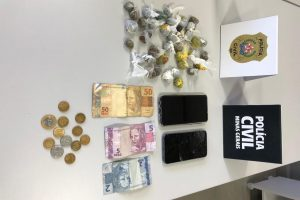 Polícia Civil prende dois envolvidos com drogas em Manhuaçu