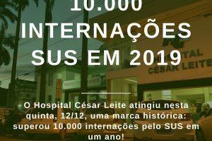 Hospital César Leite completa 10 mil atendimentos a pacientes do SUS