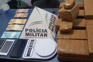 Manhuaçu: 18 quilos de maconha são apreendidos pela PM