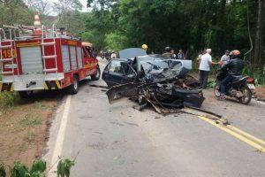 Acidente envolve 4 veículos na MG 111, em Reduto