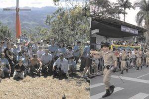 Banda do 11º BPM e Caminhada da Santa Cruz são declaradas bens imateriais de Manhuaçu