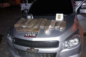 Polícia Civil apreende 11 quilos de maconha e prende traficante