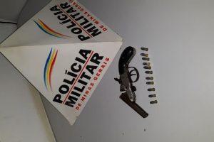 Simonésia: PM apreende arma de fogo na casa de idoso no centro da cidade
