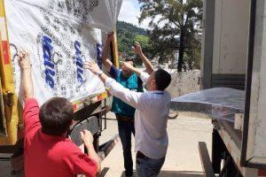 Energisa doa colchões, água mineral e ajuda com caminhões pipa em Manhuaçu