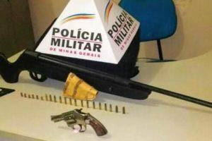 Chalé: PM apreende três armas de fogo em abordagem