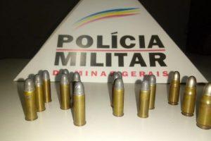 Espera Feliz: PM apreende munições no bairro Santa Inês