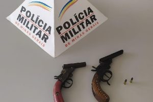 Lajinha: PM retira mais duas armas de fogo de circulação