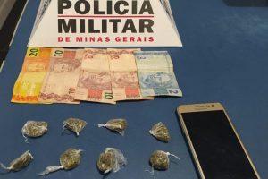 Drogas apreendidas em Manhuaçu em ações da PM