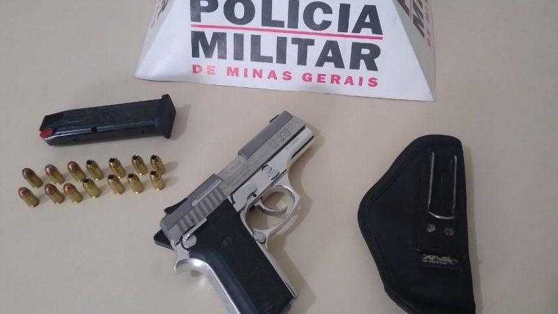 Manhuaçu: Pistola 380 é apreendida pela PM em Realeza