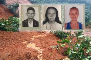 Três pessoas morreram soterradas em Simonésia