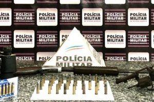 Arma e munições são apreendidas em Mutum