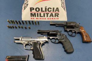 Manhuaçu: PM apreende três armas de fogo no bairro São Francisco de Assis