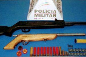Reduto: PM apreende armas e munições