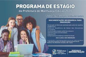 Inscrições para estágio remunerado na Prefeitura de Manhuaçu