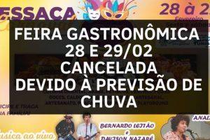 Feira gastronômica é cancelada em Manhuaçu