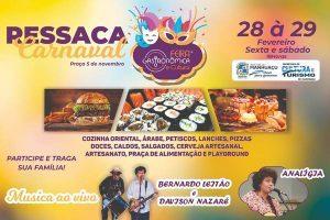 """Feira Gastronômica """"Ressaca de Carnaval"""" será em dois dias"""