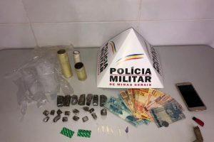 Simonésia: PM apreende drogas e prende dois por tráfico no Centro