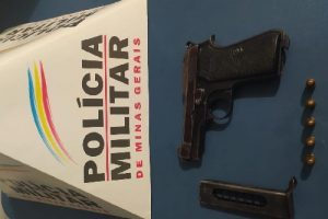 PM apreende arma de fogo no bairro Lajinha