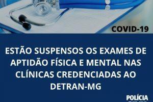 Coronavírus: Suspensos os exames para aquisição de CNH