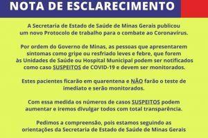 115 casos de infecção por coronavírus são investigados em Manhuaçu