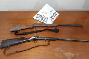 Abre Campo: PM apreende armas de fogo de caçadores