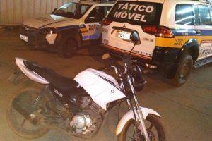 Manhuaçu: PM prende autor e recupera motocicleta roubada