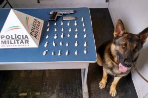 PM apreende drogas e simulacro de arma de fogo no bairro Matinha