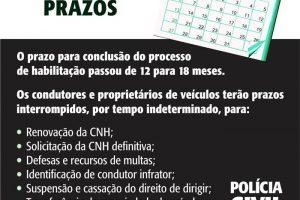 Coronavírus: PC anuncia interrupção de prazos por tempo indeterminado