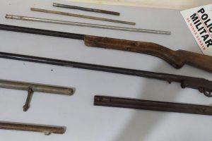 PM apreende armas de fogo e material utilizado na fabricação de armas