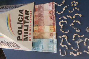 Manhuaçu: PM apreende menores com drogas e dinheiro