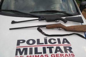 PM retira mais duas armas de fogo de circulação