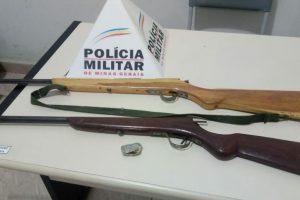 Luisburgo: Durante abordagem PM apreende droga e armas