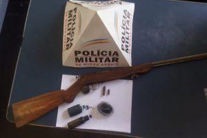 Arma apreendida no B. Santa Terezinha