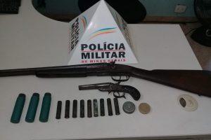 Duas armas de fogo recolhidas em Caparaó