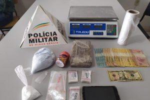 Barra de maconha, mil reais e dois presos em Espera Feliz
