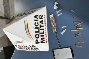 Armas e drogas apreendidas na região de Manhuaçu