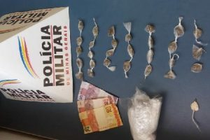 PM apreende drogas no bairro Santana