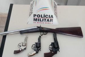 PM apreende quatro armas de fogo em Luisburgo