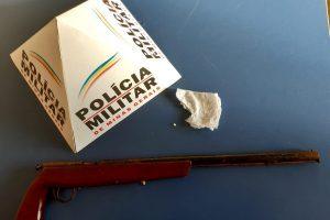 Arma e droga apreendidos em Alto Caparaó