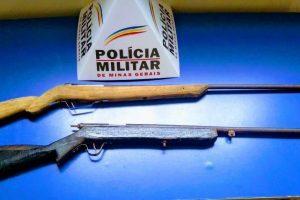 Armas são apreendidas na zona rural de Reduto
