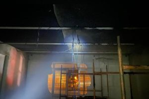 Princípio de incêndio atinge obras no prédio da Rádio Manhuaçu