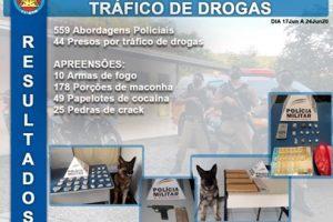 11° BPM apresenta resultados da Operação de Combate ao Tráfico de Drogas