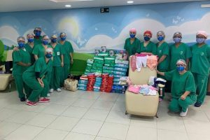 UTI Neonatal do HCL agradece fraldas recebidas